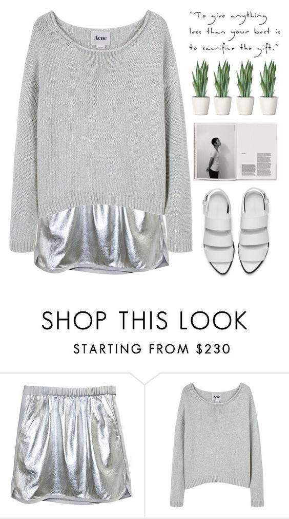 """""""don't forget to breathe"""" by alienbabs ❤ liked on Polyvore featuring Cynthia Rowley, Acne Studios, Alexander Wang, Silver, clean, grey and organized"""