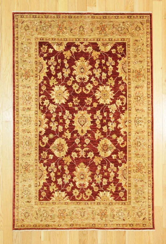 "Kaoud Oriental Rugs Burgundy Size 4' 0"" x 6' 2"" - Rectangle"