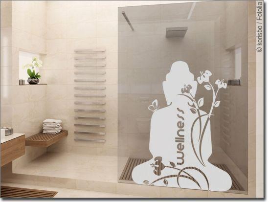 Glastattoo Wellness Buddha Sichtschutzfolie Fenster Buddha Und