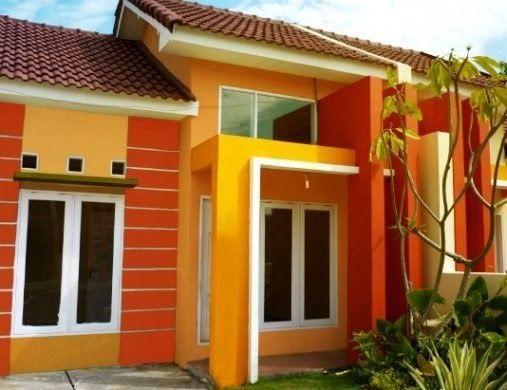 Gambar Rumah Minimalis Cat Orange Di 2020 Warna Cat Rumah