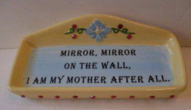 PrimiTive Folkart Trinket Dish Mirror Mirror On The Wall   TheWareHouseShelf  Collectibles We Ship Internationally by TheWAREHOUSEShelf on Etsy https://www.etsy.com/listing/208521619/primitive-folkart-trinket-dish-mirror