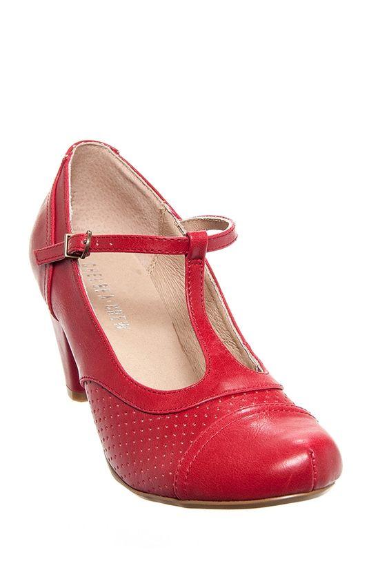 Red Shoes Low Heel