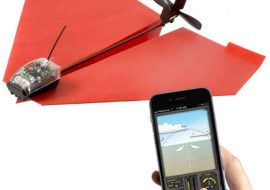 PowerUp 3.0 – smartphone controlled paper airplane