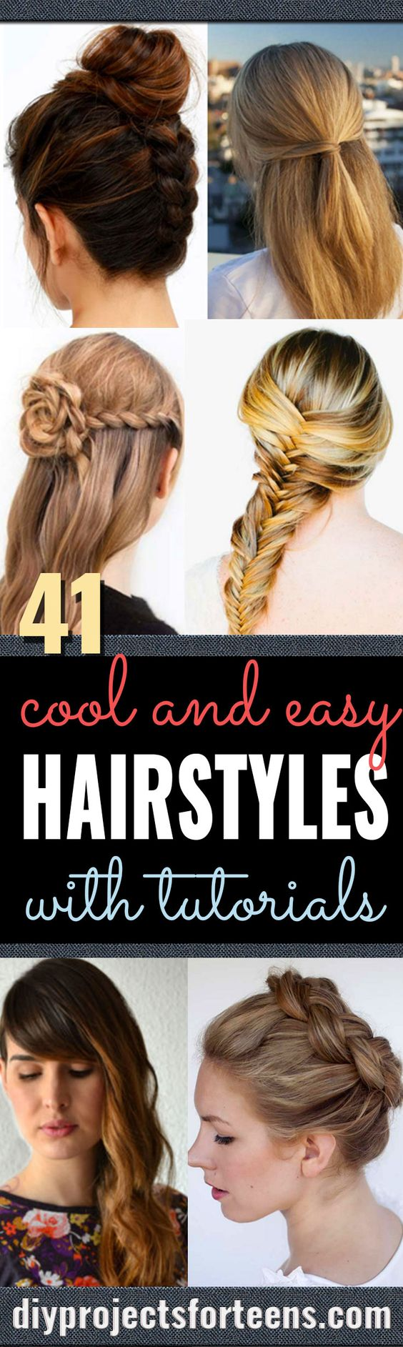 home hair styling ideas 41 diy cool easy hairstyles that real can actually 7098