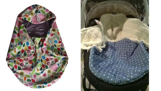 """Decke für Babyschale """"Romy"""", Schnittmuster und Nähanleitung - 2 Größen - Nähanleitungen bei Makerist"""