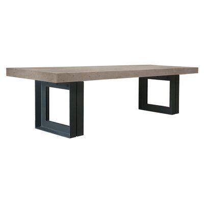 Seasonal Living Senza Concrete Dining Table Top Color Slate Gray