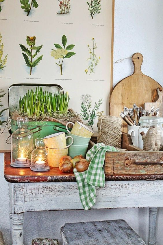 Swedish kitchen vignette. VIBEKE DESIGN. #swedish #kitchen #country #green