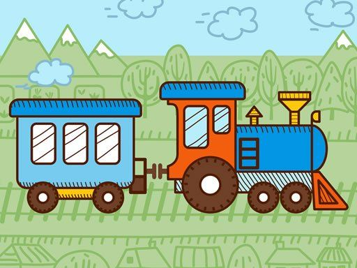 Trains For Kids Coloring Coloring For Kids Free Mobile Games Train Vector