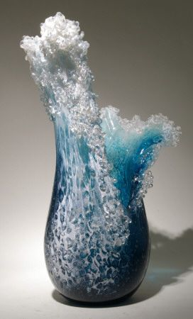 Wave Bowl by Paul DeSomma and Mrsha Blaker via glass-art.com