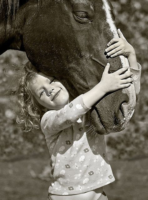 Few will ever understand the connection between a little girl and her Horse: