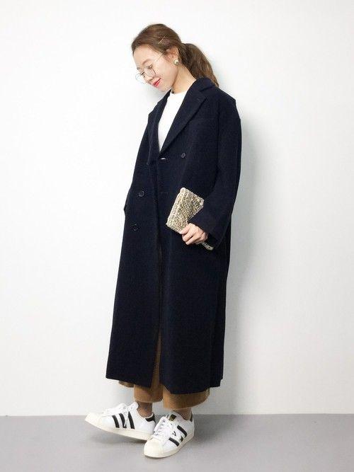 低身長女子の チェスターコートコーデ 背が低くても似合う着丈 着こなし方 Lamire ラミレ 2020 ファッションアイデア ロングカーディガン コーデ チェスターコート コーデ