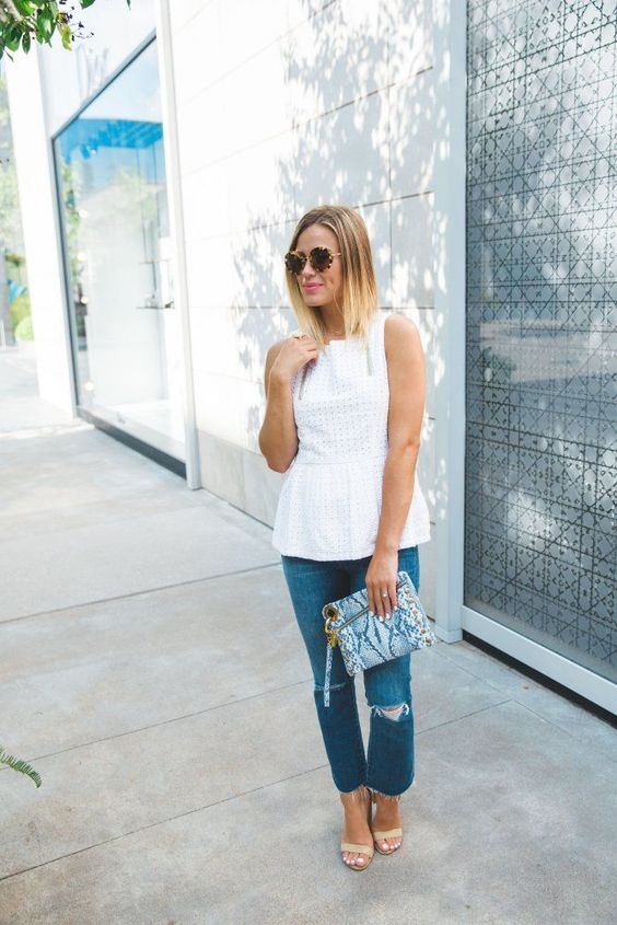 How to wear cropped jeans   Cropped denim   Uptown with Elly Brown