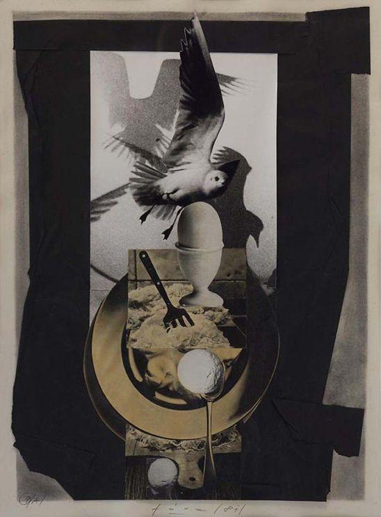 Collage by Libor Fára (1925-1988), 1981, Black Sunday 9.A. #CzechArt