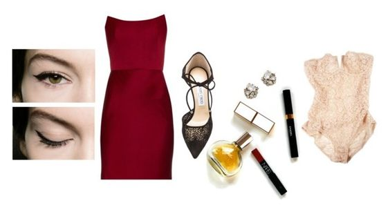 """""""..."""" by tomorrowsparties ❤ liked on Polyvore featuring Alexander McQueen, Dolce&Gabbana, Jenny Packham, Maryam Keyhani, Jimmy Choo, women's clothing, women's fashion, women, female and woman"""