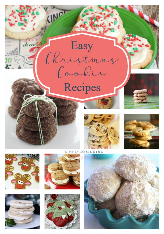 Easy Christmas Cookie Recipes Cookie recipes, Christmas cookies