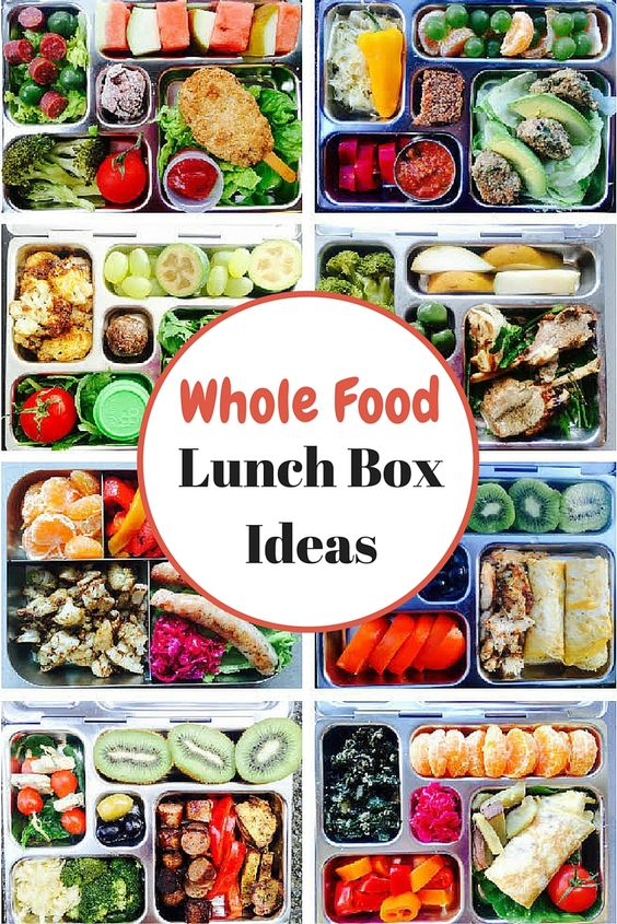Whole Food Lunch Box Ideas. I would do this for myself if only I had an entire Sunday to cook & prepare . . . .