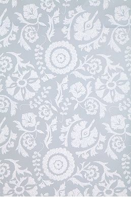 Kreme Suzani Floral Wallpaper - maybe in a diff colorl. Pink? haha