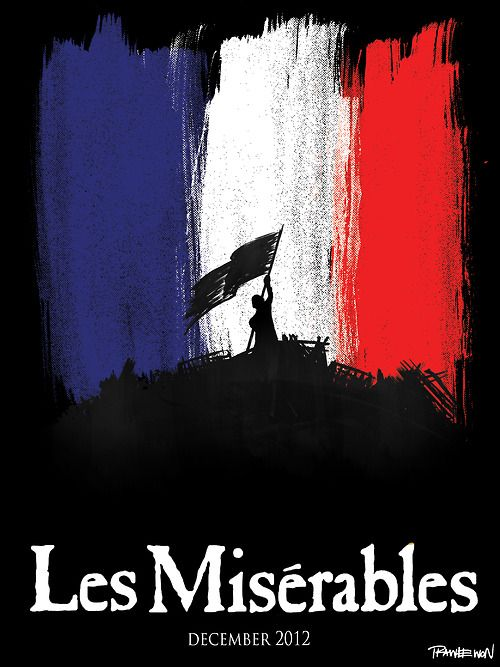 Les Mis (2012) | Poster art for the big screen adaptation of the musical Les Misérables opening Christmas Day 2012.