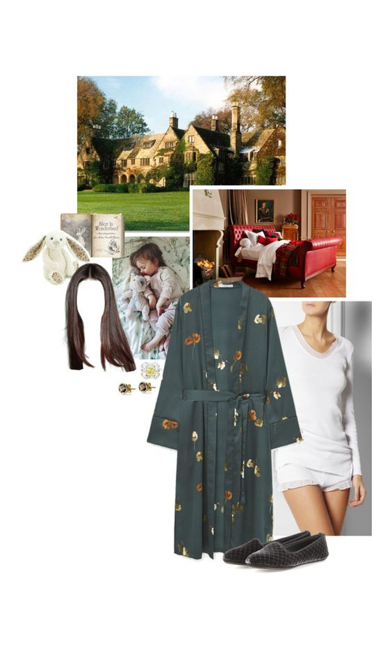 """Untitled #2272"" by duchessq ❤ liked on Polyvore featuring Skin, MANGO, Jellycat and Bottega Veneta"