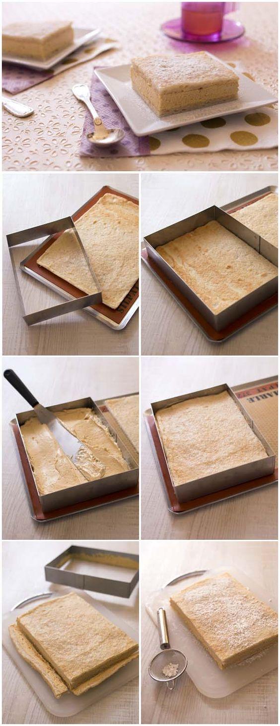 Le gâteau russe à la crème praliné – DIY photo en pas à pas