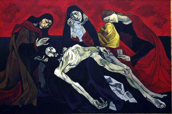 Oswaldo Guayasamín, La Pieta de Avignon, 20th century (after Quarton)