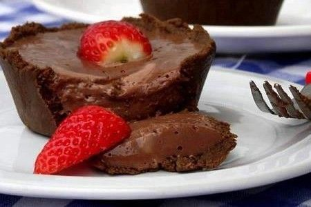 Tortinha de Nutella: Ideal Recipes, Dessert Recipes, Chocolate Recipes, Desserts Sweets, Sweet Recipes, Mini Desserts, Small Desserts