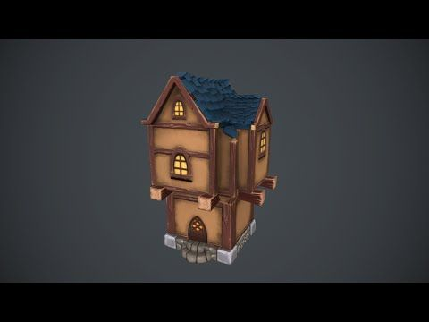 [Zbrush] Fantasy House - Painting and sculpting time lapse - YouTube