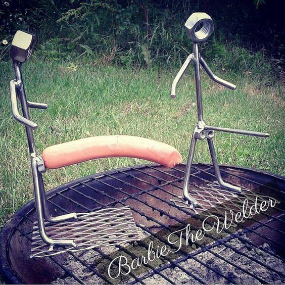 Set di 2 Big Dick Hot Dog torrefattori bbq Barbecue Top Wiener