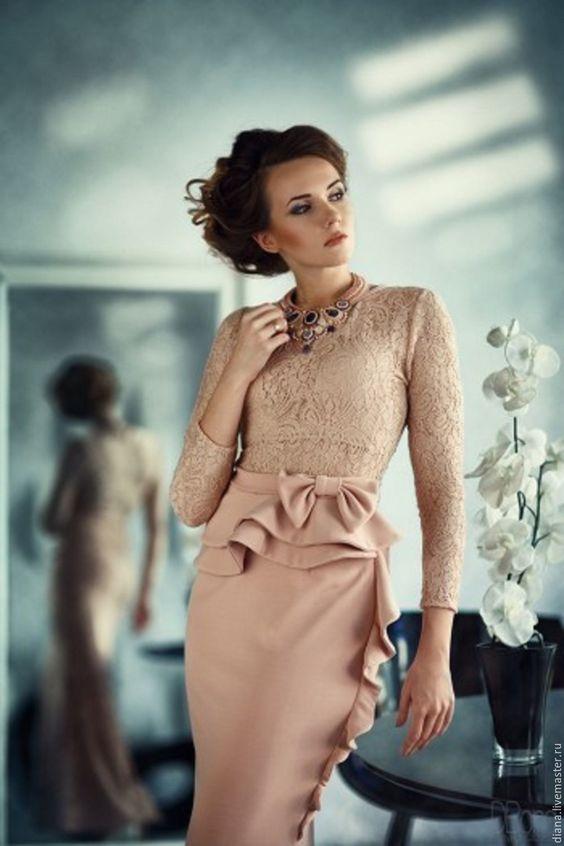 Beige Long Dress |  Элегантное платье бежевое. - акция, скидки и распродажи, кремовый, одежда, платье, платье в пол