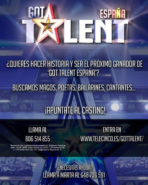 Casting Got Talent España Profesora De Baile Bailarinas Cantantes