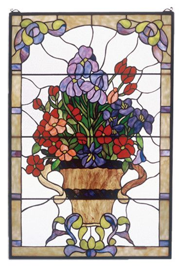 Meyda Tiffany Floral Arrangement Stained Glass Window & Reviews | Wayfair