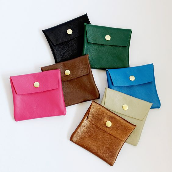 Small leather pouch (new colors) A handy little snap pouch that - money receipts