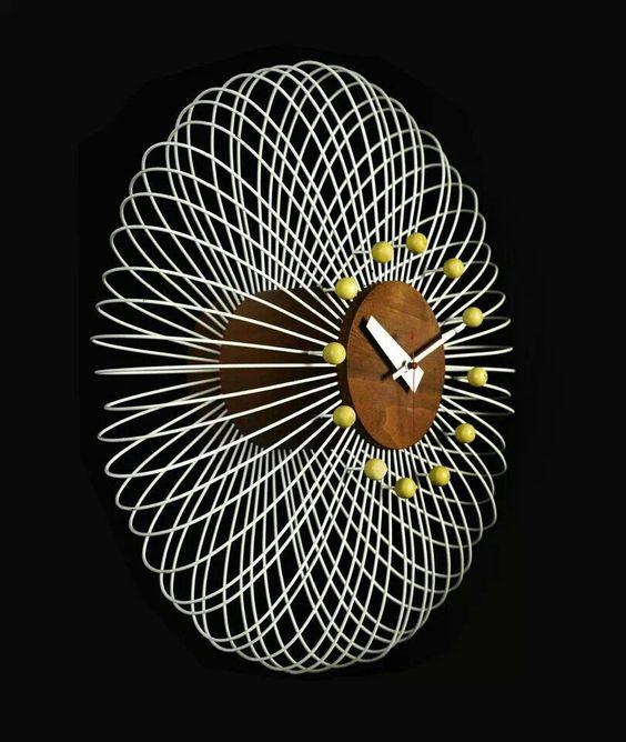 Wired Clock   Mid Century Modern
