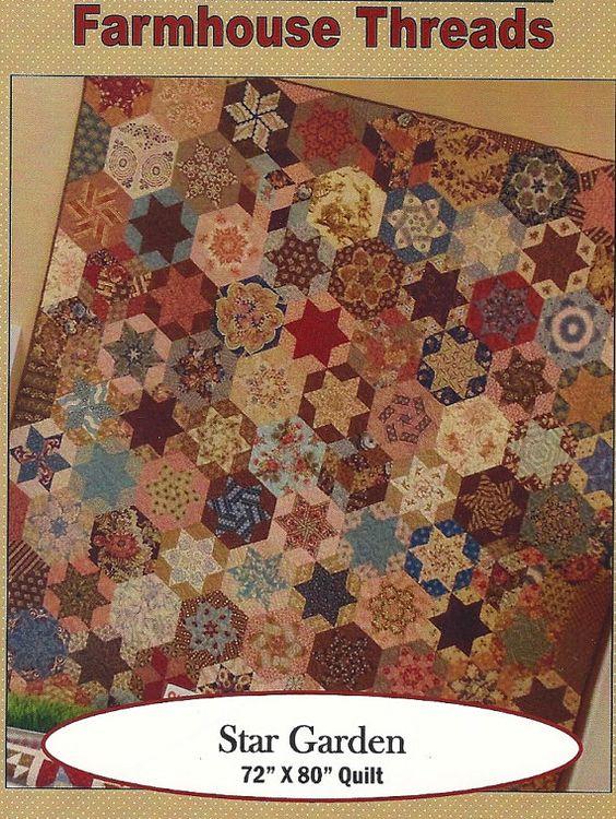 Primitive Folk Art Quilt Pattern Best Of All : Love this Pattern! Primitive Folk Art Quilt Pattern STAR GARDEN by PrimFolkArtShop, USD 7.75 ...