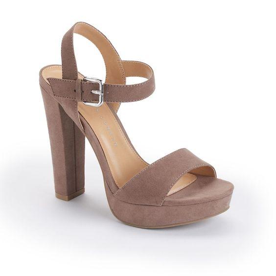 LC Lauren Conrad Women's Platform High Heel Sandals