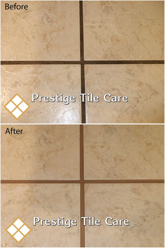 Before And After Colorsealing Grout Seattle Tile And Grout Cleaning Sealing Regrouting