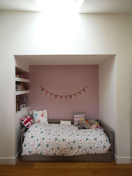 Alcove tête de lit chambre d\'enfant. www.atelierjoseph.fr ...