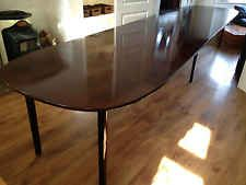 Huge 4.5 Metre Long Large Mahogany D-End Extending Dining Table by Ole Wanscher