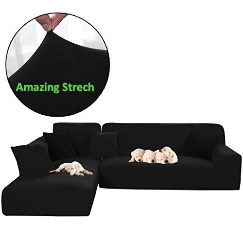 Taiyucover Stretch L Shaped Sofa Slipcover 2pcs Sectional Sofa Cover Furniture Protectors For Living Room L Shape Cou L Shaped Sofa Sofa Covers L Shaped Couch