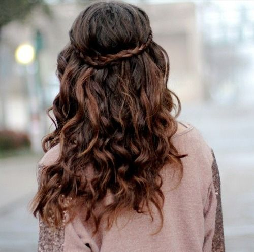 Astounding Curly Hair Curly Hairstyles And Hairstyles On Pinterest Hairstyles For Women Draintrainus