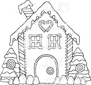 Gingerbread House Gingerbread Quilt Christmas Drawing