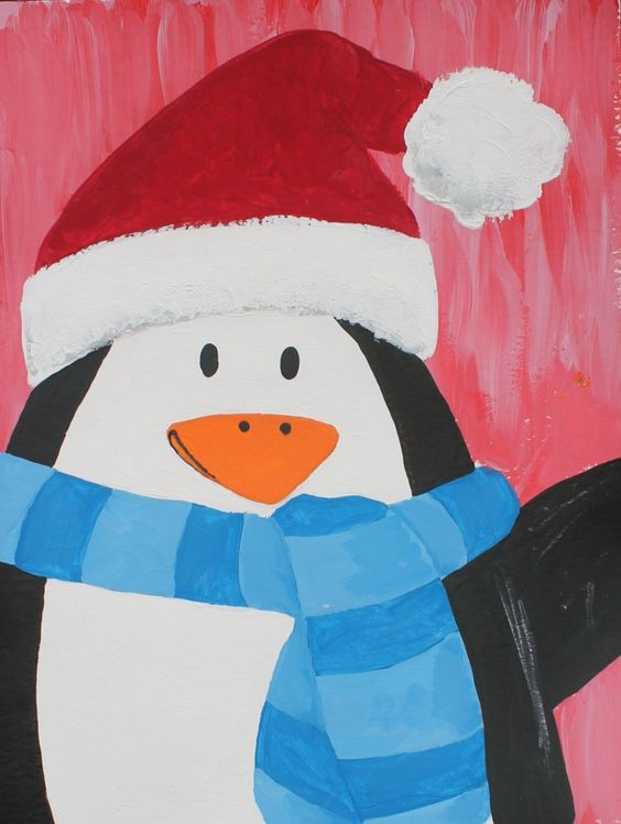 Kool Aid Canvas At The 567 Center An Art Class For Kids Penguin Painting