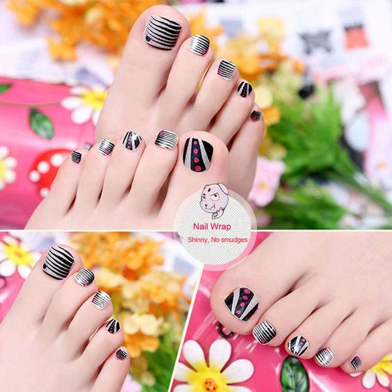 Find More Stickers & Decals Information about Toe Foil stickers manicure decals Jamberry Nail wraps art template nails Adhesive patch Long Wearing Waterproof  design unghie ,High Quality pedicure thongs,China art deco bronze sculpture Suppliers, Cheap art octopus from Nail Sticker Love you Love on Aliexpress.com