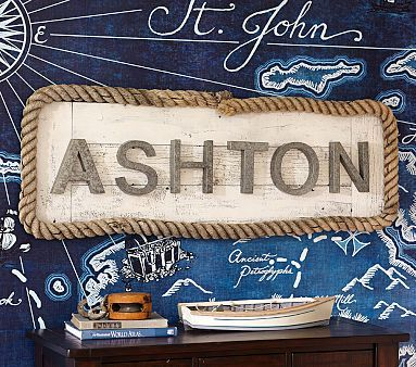 Galvanized wall letters: Pottery Barn Kids