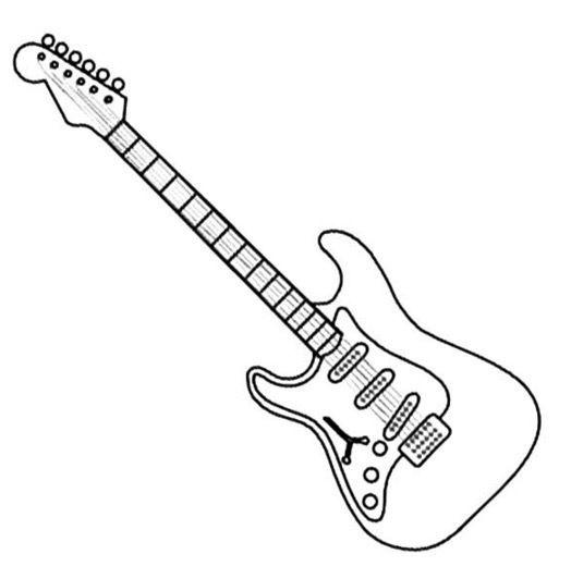 Guitar Coloring Page Coloring Pages Coloring Pages To Print Guitar