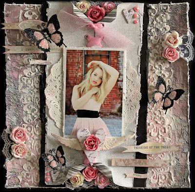 Design Team work using the gorgeous, Scraps of Elegance January Kit- A Dream Within A Dream and Featuring 13 Arts Papers.