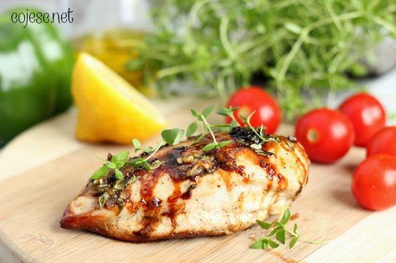 Tymiankowy kurczak (na obiad, do sałatek i na kanapkę)   Zdrowe Przepisy Pauliny Styś