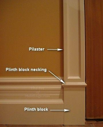 Plinth block, pilaster