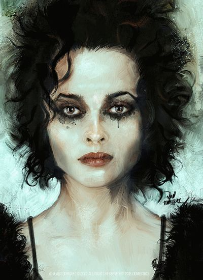 Tim Burton's Sweeney Todd. Helena Bonham Carter shows the sadness of a woman who is bound to a destructive man who cannot change.