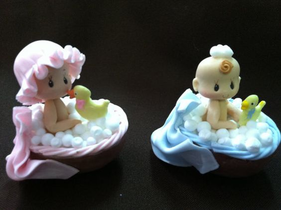 Baby shower pink shower baby and baby shower cake toppers on pinterest - Baby douche ...